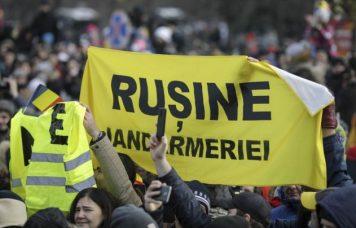 Proteste Jandarmerie parada Decembrie